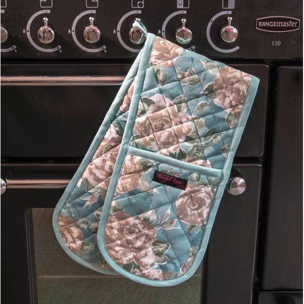 Modrá dvojitá kuchyňská chňapka Ragged Rose Bertha