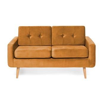 Canapea cu 2 locuri Vivonita Ina Trend, galben muștar de la Vivonita