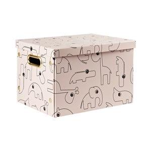 Růžový úložný box Done by Deer Contour