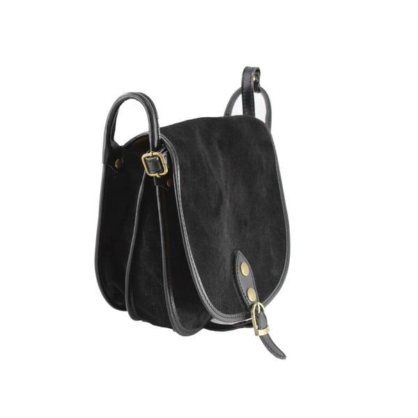 Kožená kabelka přes rameno Gina, černá