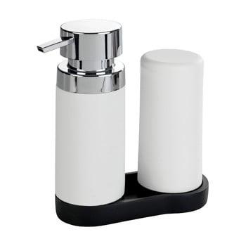 Set 2 dozatoare pentru detergent de vase și săpun lichid Wenko Squeeze, 250 ml,, alb de la Wenko