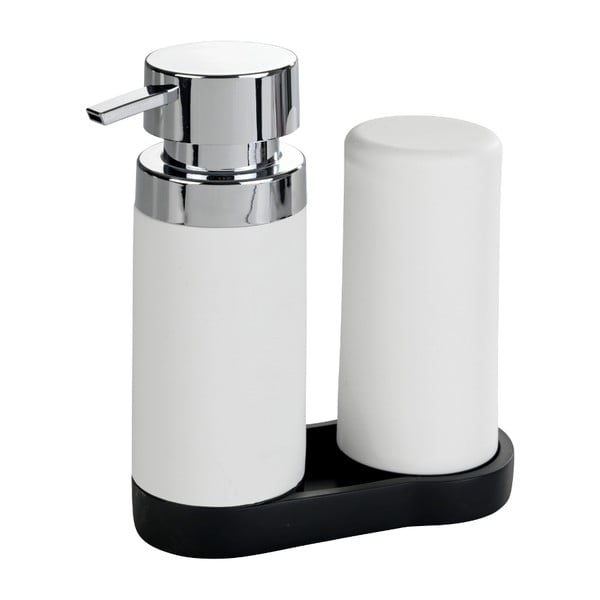 Set 2 dozatoare pentru detergent de vase și săpun lichid Wenko Squeeze, 250 ml,, alb