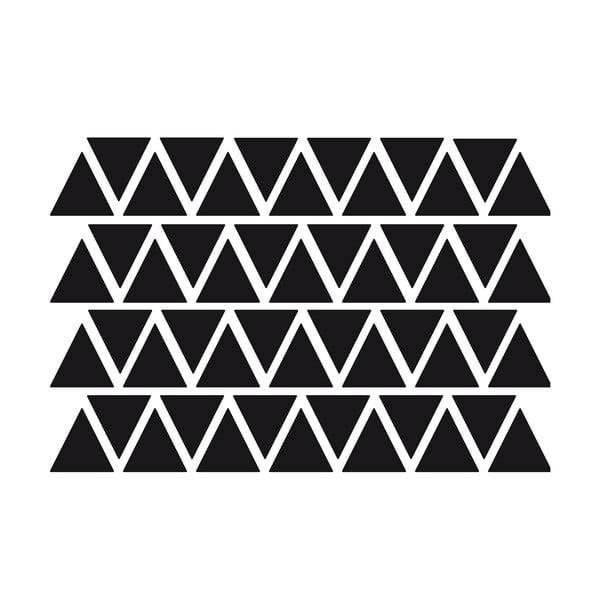 Sada 50 černých samolepek Ambiance Triangles