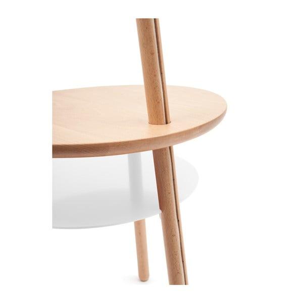 Bílá stolní lampa z jasanového dřeva HARTÔ Josette