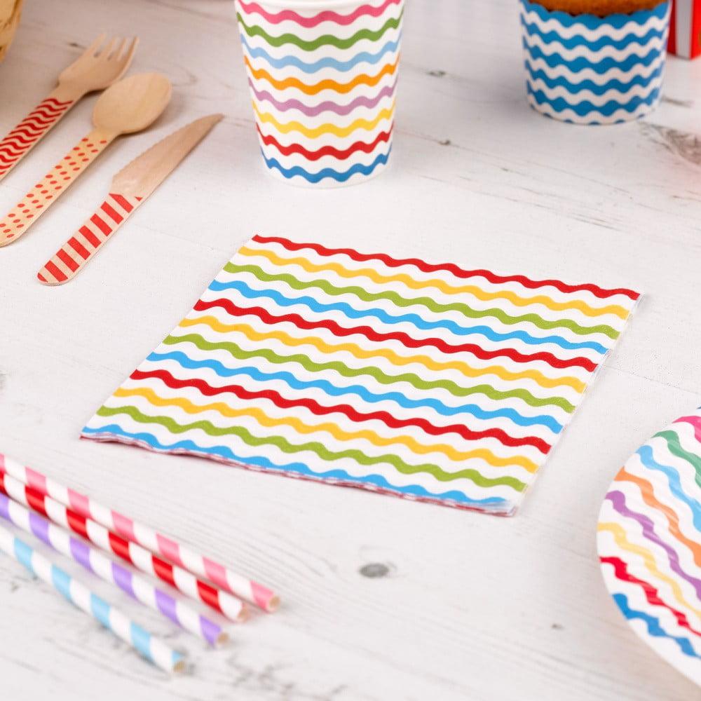 Sada 20 papírových ubrousků Neviti Carnival Waves Multi