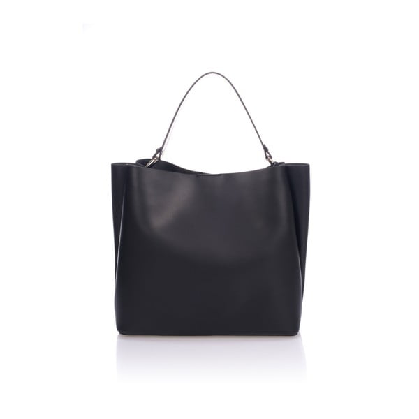 Černá kožená kabelka Giulia Massari Dona