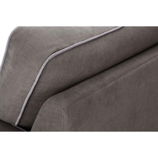 Trojdílná sedací souprava Jalouse Maison Serena, tmavě hnědá