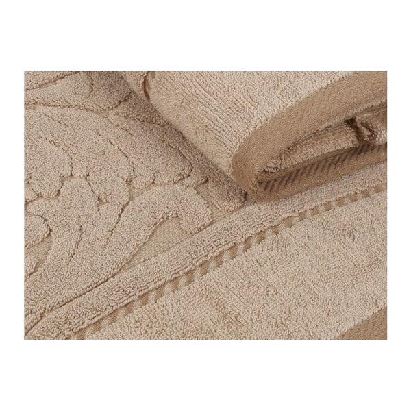 Sada 2 hnědých bavlněných ručníků z bavlny Sultan, 50 x 90 cm