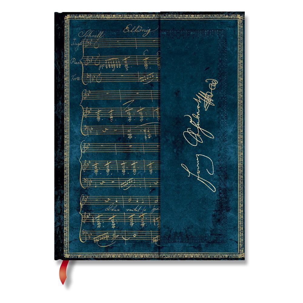 Modrý linkovaný zápisník s tvrdou vazbou Paperblanks Schubert, 144stran