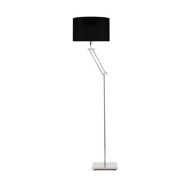 Šedá volně stojící lampa s černým stínidlem Citylights Dublin