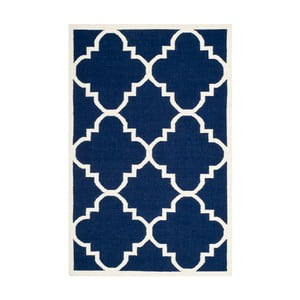 Modrý vlněný koberec Safavieh Alameda, 152x243cm