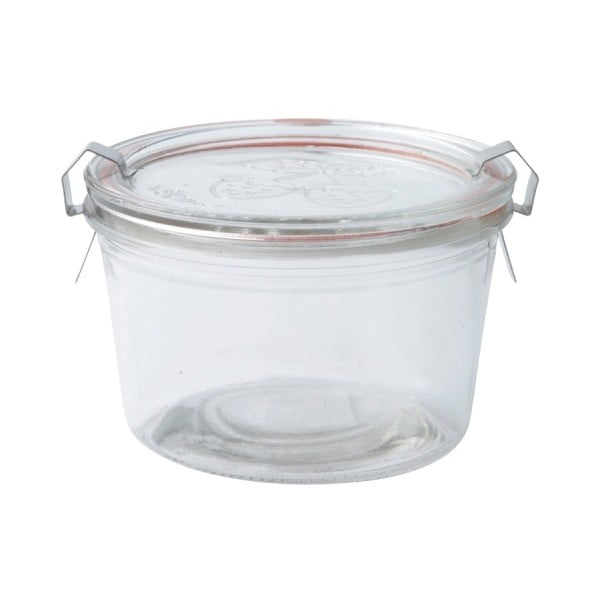 Zavařovací sklenice s uzávěrem KJ Collection Clear, 400ml