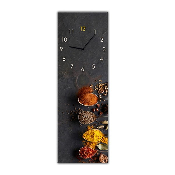 Ceas de perete Styler Glassclock Spices, 20 x 60 cm