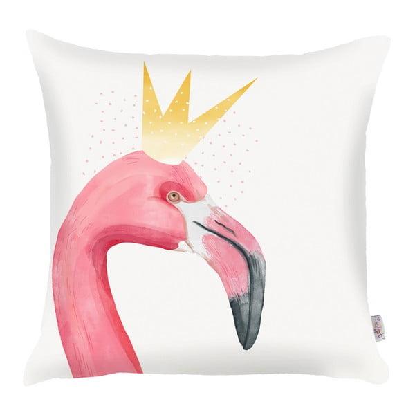 Obliečka na vankúš Apolena Flamingo King, 43×43 cm