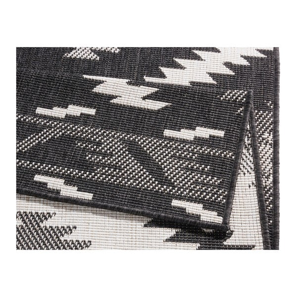 Covor cu 2 fețe Bougari Supreme Black, 290 x 200 cm, negru-crem