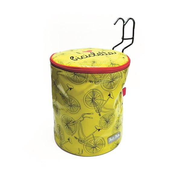 Kulatá taška na kolo I ♥ Bicicleta, žlutá