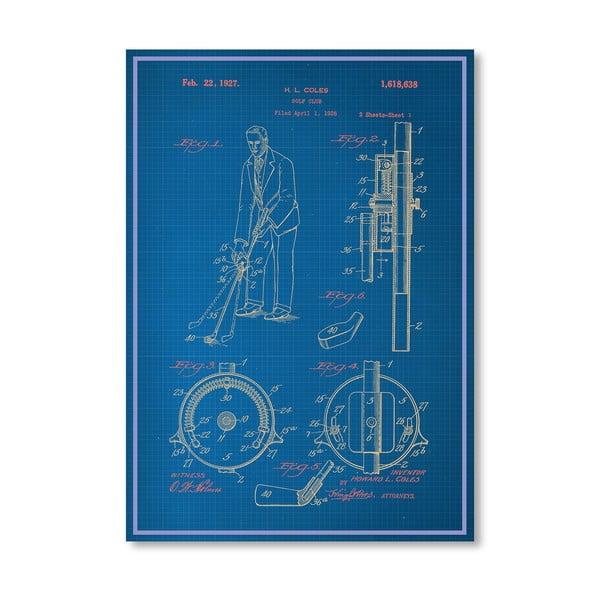 Plakát Adjustable Golf Club, 30x42 cm
