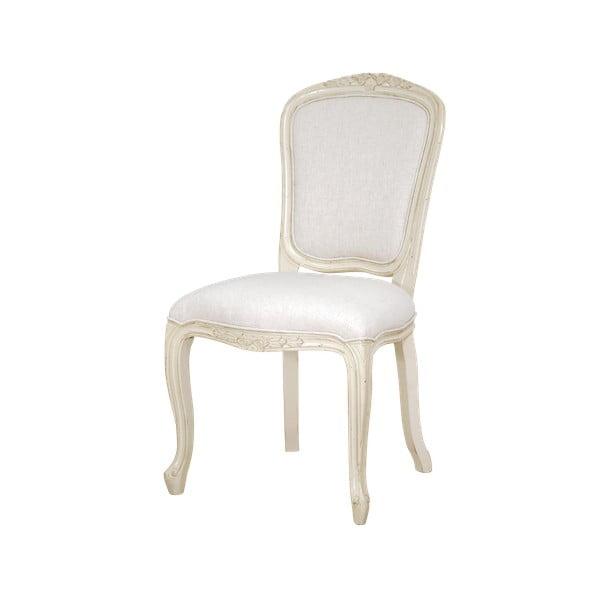 Kremowobiałe krzesło z konstrukcją z drewna brzozowego Livin Hill Verona