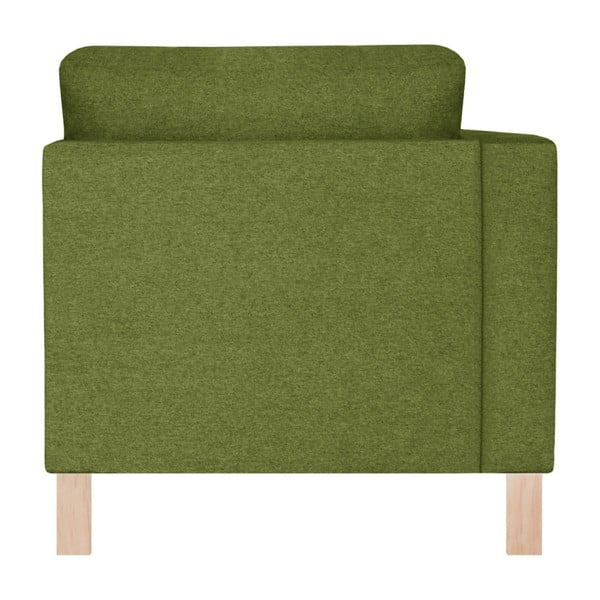 Zelená lenoška se světle zeleným polštářem Stella Cadente Maison Maison Canoa, levá strana