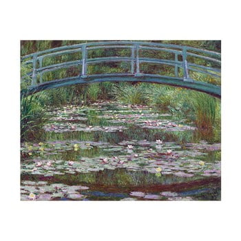 Reproducere tablou Claude Monet – The Japanese Footbridge, 50×40 cm de la Fedkolor