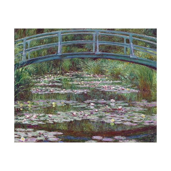 Claude Monet festmény másolat - The Japanese Footbridge, 50 x 40 cm