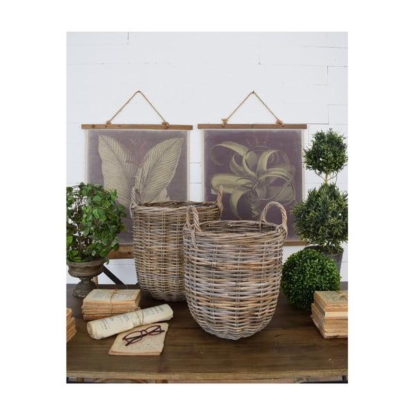 Sada 2 ratanových úložných košíků Orchidea Milano St Barts