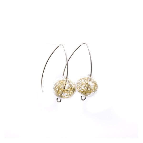 Cercei cu mărgele din sticlă Ko-ra-le Almonds Wired, auriu