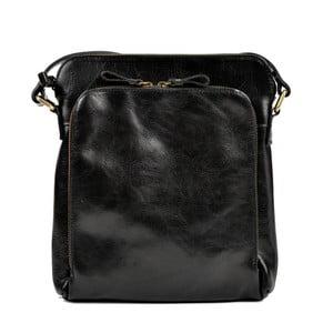 Černá kožená kabelka Renata Corsi Bahnema