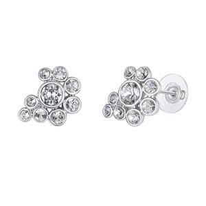 Postříbřené náušnice s krystaly Swarovski Lilly & Chloe Ginette
