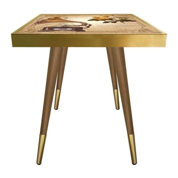 Príručný stolík Caresso Gramophone Square, 45 × 45 cm