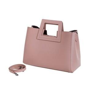 Starorůžová kabelka z pravé kůže Andrea Cardone Pietro