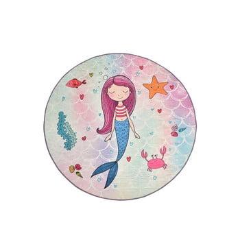 Covor antiderapant pentru copii Chilai Mermaid,ø140cm imagine