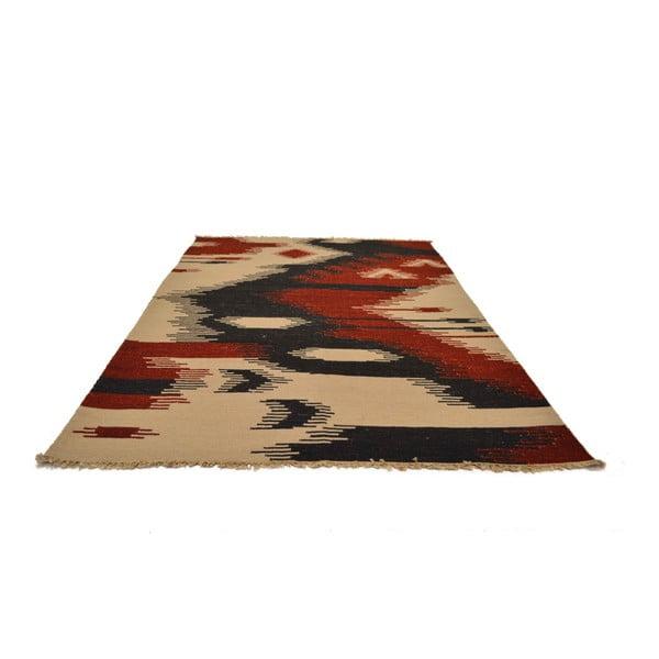 Ručně tkaný koberec Red Abstract, 140x200 cm