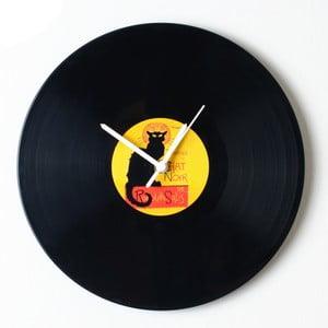 Vinylové hodiny Chat Noir