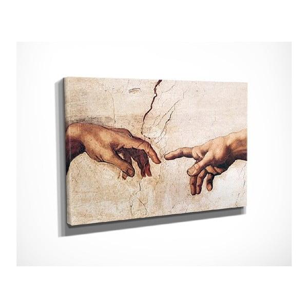 Vászon fali kép Michelangelo másolat, 40 x 30 cm