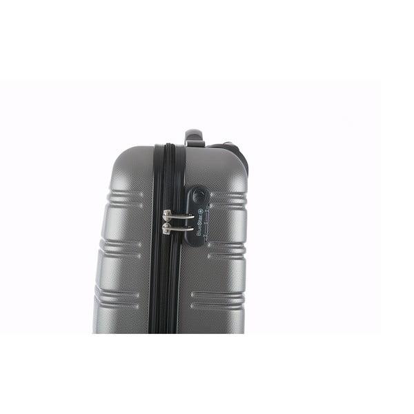 Stříbrný příruční kufr na kolečkách BlueStarBilbao