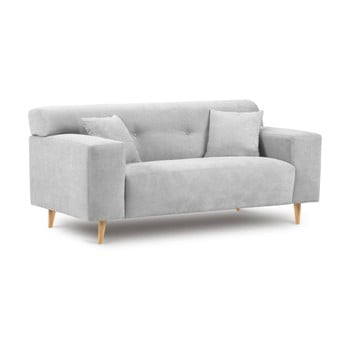 Canapea cu 2 locuri Kooko Home Twist gri deschis