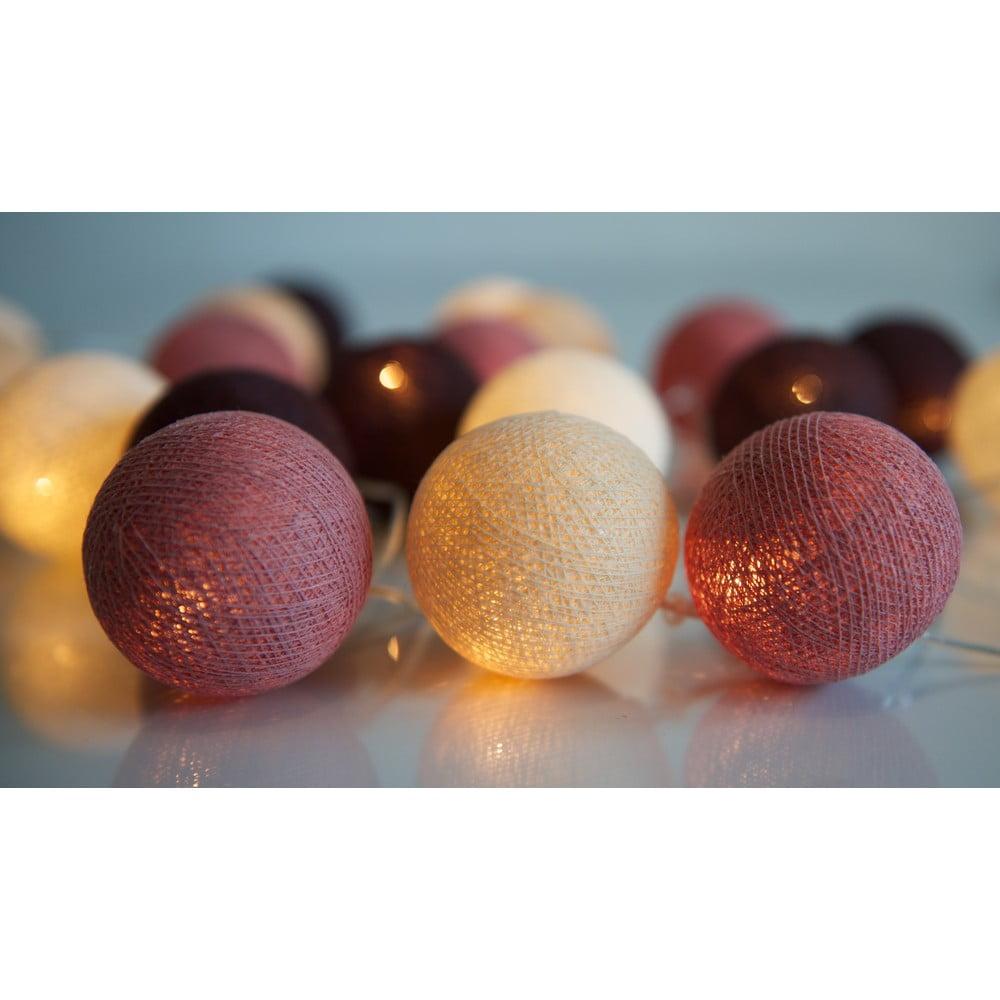 Svítící řetěz Irislights Dusty Pink, 35 světýlek