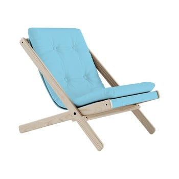 Scaun pliabil Karup Design Boogie Raw/Light Blue