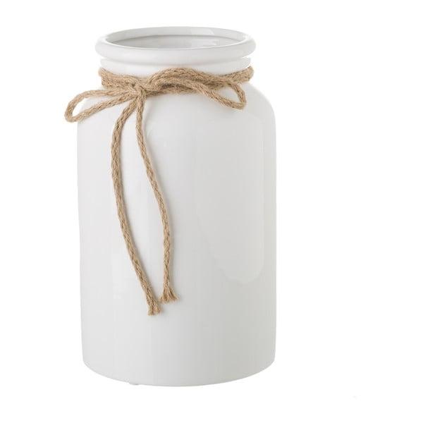 Bílá keramická váza Unimasa Bowtie, ⌀ 15 cm