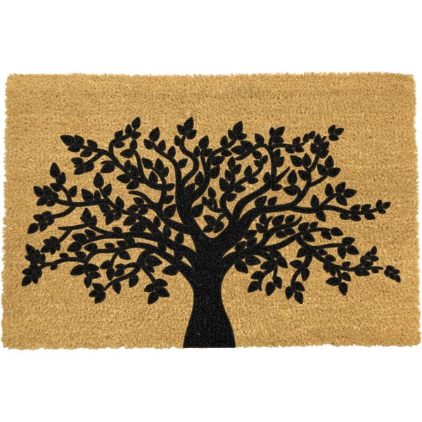 Rohožka z prírodného kokosového vlákna Artsy Doormats Tree of Life, 40 x 60 cm