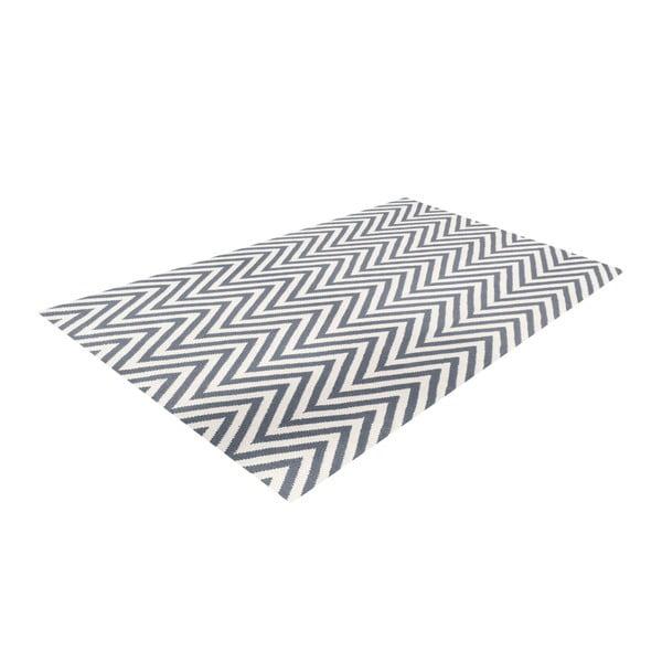 Vlněný koberec Zig Zag Grey, 200x140 cm