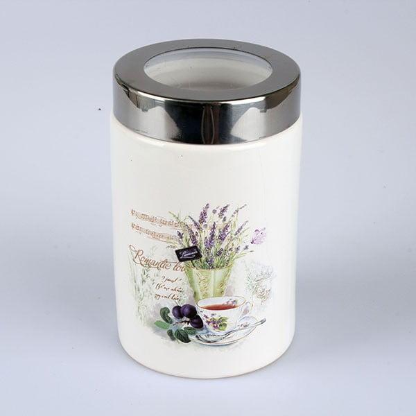 Keramická dóza s víkem Lavender