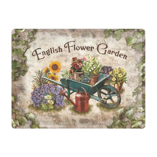 Plechová cedule Garden, 30x40 cm