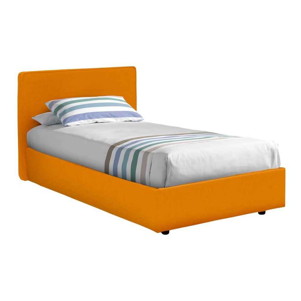 Oranžová jednolůžková postel 13Casa Ninfea, 80 x 190 cm