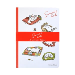Set 3 caiete pentru exerciții Portico Designs Simon's Cat