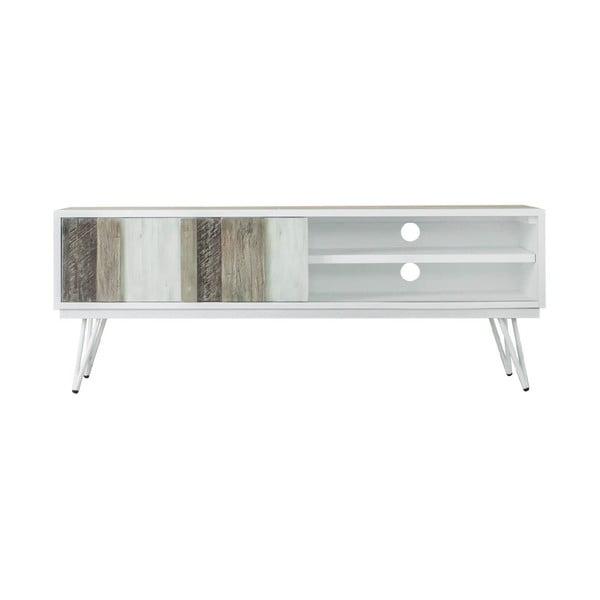 Brązowo-biała szafka pod TV sømcasa Niza, szer. 150 cm