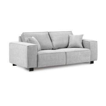 Canapea cu 2 locuri Kooko Home Modern gri deschis