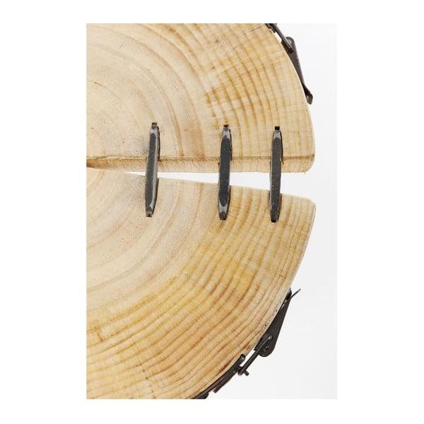 Odkládací stolek z borového dřeva Kare Design Bosco, Ø 35 cm