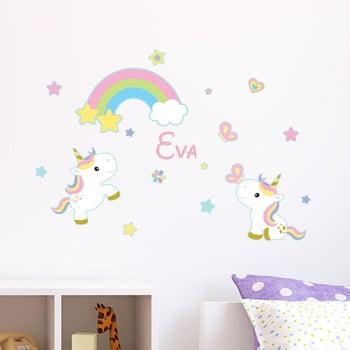 Autocolant de perete cu nume Ambiance 2 Baby Unicorns de la Ambiance